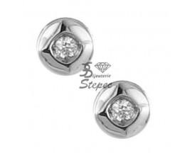 Boucles d'oreilles boutons diamant(s) or Clozeau - W340DG