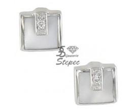 Boucles d'oreilles boutons diamant(s) or Clozeau - Y097DBG