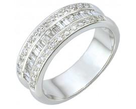 Demi alliance diamants or Girard - 35032GO
