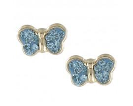 Boucles d'oreilles boutons or Stepec - N10348