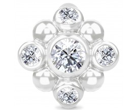 Charm argent Endless Blooming Sparkle - 41406