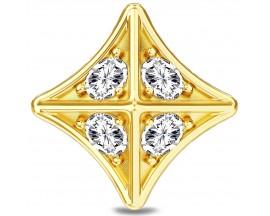 Charm argent plaqué or jaune Endless JLO Royal Stud - 1596