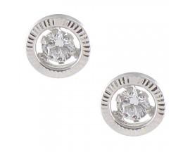 Boucles d'oreilles boutons or oxydes de zirconium Stepec - N10808G