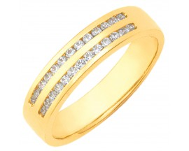 Demi alliance diamants or Girard - 35749BO