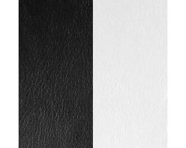 Cuir bracelet Les Georgettes - Noir/Blanc 25 mm