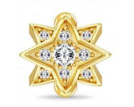 Charm argent plaqué or jaune Endless JLO Royal Star - 1634