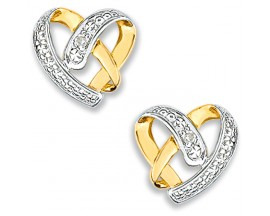 Boucles d'oreilles boutons or diamant(s) Christian Bernard - QB241BB5