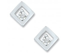 Boucles d'oreilles boutons or diamant(s) Christian Bernard - QE204GB4
