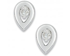 Boucles d'oreilles boutons or diamant(s) Christian Bernard - QM205GB4