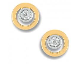 Boucles d'oreilles boutons or diamant(s) Christian Bernard - QM214BB4