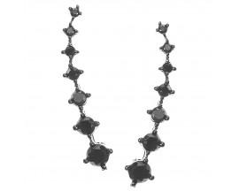 Boucles d'oreilles boutons argent Orus - E67BLACK