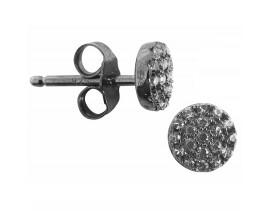 Boucles d'oreilles boutons argent Orus - BO112BLACK