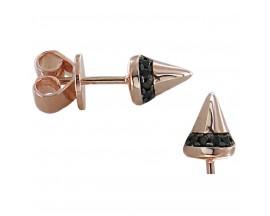 Boucles d'oreilles boutons argent Orus - E377BICOLORE