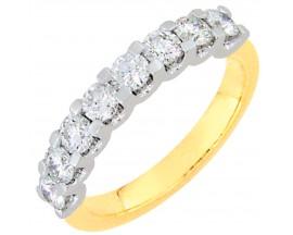 Demi alliance diamants or Girard - 3L002XB3