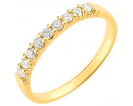 Demi alliance diamants or Girard - 3L005JB2