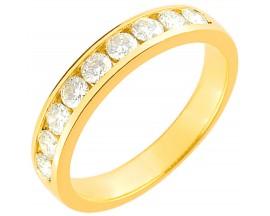 Demi alliance diamants or Girard - 3L029JB2