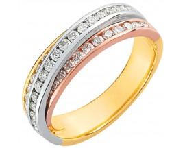 Demi alliance diamants or Girard - 3R013TB2
