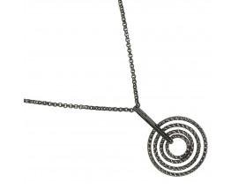 Collier argent Orus - CA211BLACK