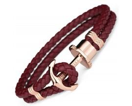 Bracelet acier & cuir Paul Hewitt