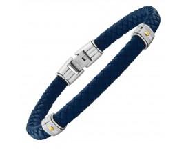 Bracelet acier & cuir Jourdan - FZ140BEH