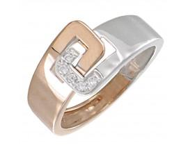 Bague or rose & gris diamant(s) Clozeau - H342DRG