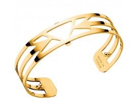 Bracelet manchette Les Georgettes - Ibiza finition or 14 mm