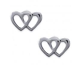 Boucles d'oreilles boutons argent Stepec - SOIJJX