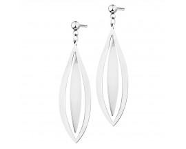Boucles d'oreilles pendants acier Elixa - EL125-1861-BO
