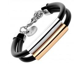 Bracelet acier & caoutchouc Elixa - EL124-9381-BR