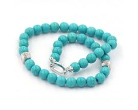 Bracelet mixte turquoises et argent Orus - BR862TURQUO