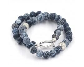 Bracelet mixte onyx et argent Orus - BR862GRIS