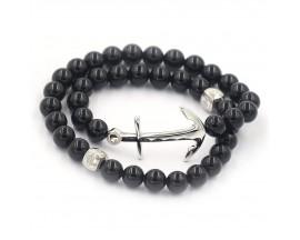 Bracelet mixte onyx et argent Orus - BR863ONYX