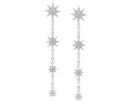 Boucles d'oreilles pendantes argent et oxydes Orus - BO142