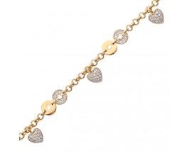 Bracelet coeur plaqué or et oxydes Stepec - ESPSPBBT