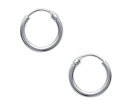 Boucles d'oreilles créoles argent Stepec - BPIBI