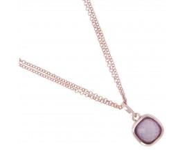 Collier plaqué or rose et quartz violet Bronzallure - WSBZ00551.VQC