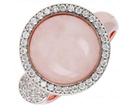 Bague plaqué or rose et quartz rose Bronzallure - WSBZ00580.R