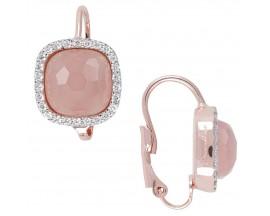 Boucles d'oreilles brisures plaqué or rose et chalcedony Bronzallure - WSBZ00850.RC
