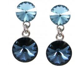 Boucles d'oreilles pendantes argent Indicolite - BOPU-RICO2-112