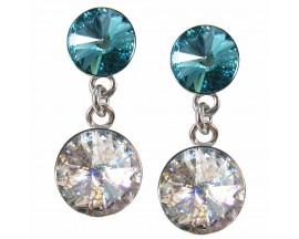 Boucles d'oreilles pendantes argent Indicolite - BOPU-RICO2-115