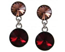 Boucles d'oreilles pendantes argent Indicolite - BOPU-RICO2-208