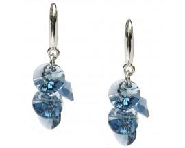 Boucles d'oreilles pendants argent Indicolite - BOCR-HELEN-266