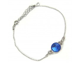 Bracelet argent Indicolite - BR-EMI-206