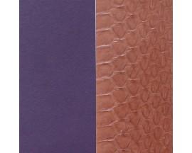 Cuir bracelet Les Georgettes - Serpent d'eau Terracotta/Violet 14 mm