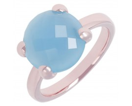 Bague plaqué or rose et light blue Bronzallure - WSBZ00013.BB