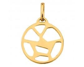 Pendentif collier Les Georgettes - Girafe doré - 16 mm