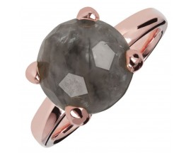 Bague plaqué or rose et quartz Bronzallure - WSBZ00948.GQ