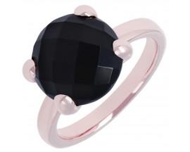Bague plaqué or rose et black onyx Bronzallure - WSBZ00013.B