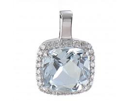 Pendentif or aigue marine & diamant(s) - LT 3096 AIG/BTS