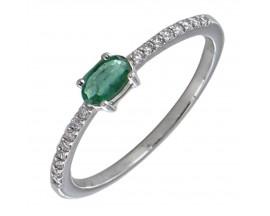 Bague or émeraude & diamant(s) - Gringoire BS 1839 EF/BTS